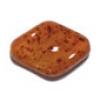 Glass Bead 19x13mm Baroque Amber Matrix Strung